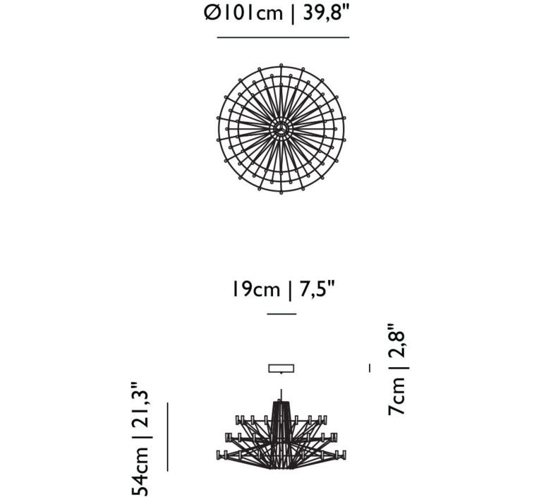 Coppelia arihiro miyake lustre chandelier  moooi molcos   design signed 37473 product