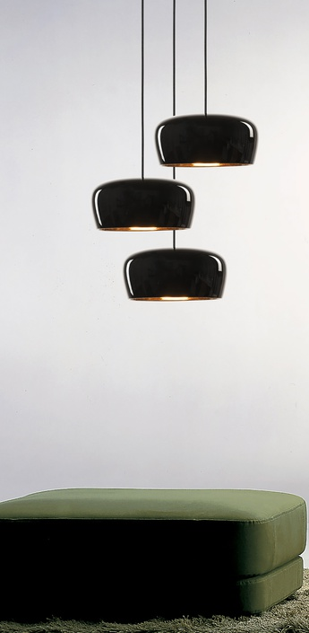 Lustre coppola chandelier 3 noir et or h250cm l48cm formagenda normal