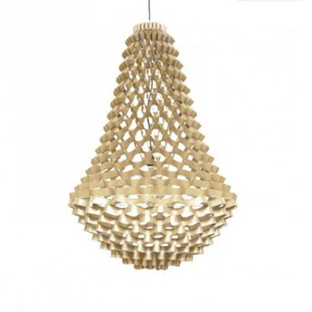 Lustre crown large champagne h225cm diam 135cm jspr normal