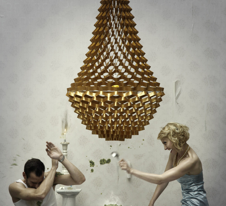 Crown large grietje schepers jspr crown large gold luminaire lighting design signed 12058 product