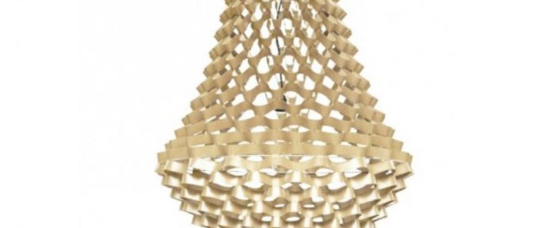 Lustre crown medium champagne h135cm o80cm jspr normal