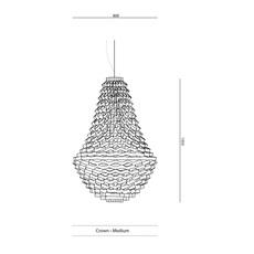 Crown medium grietje schepers jspr crown medium gold luminaire lighting design signed 24395 thumb