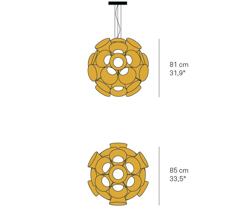 Dandelion burkhard dammer lustre chandelier  lzf ddln s 20 led dim0 10v   design signed nedgis 82603 product