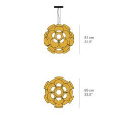 Dandelion burkhard dammer lustre chandelier  lzf ddln s 20 led dim0 10v   design signed nedgis 82603 thumb