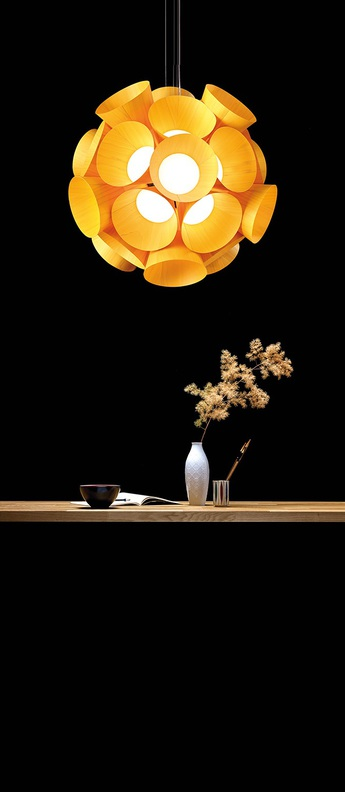 Lustre dandelion orange led 3000kk 3461lm o85cm h81cm lzf normal