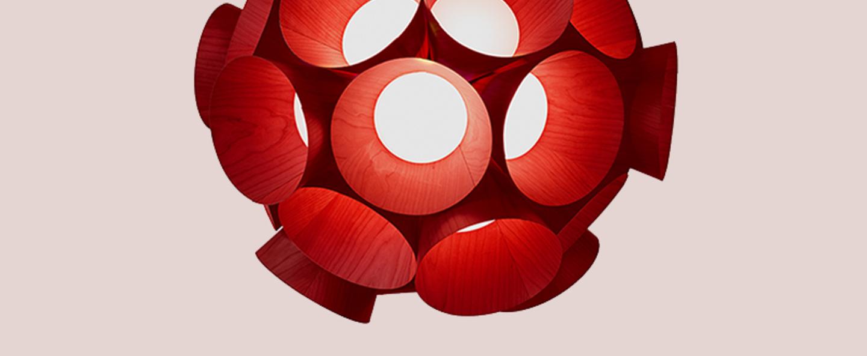 Lustre dandelion rouge led 3000kk 3461lm o85cm h81cm lzf normal