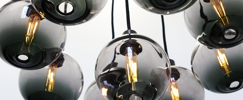 Lustre drape skirt 9 noir o45cm h120cm sklo studio normal