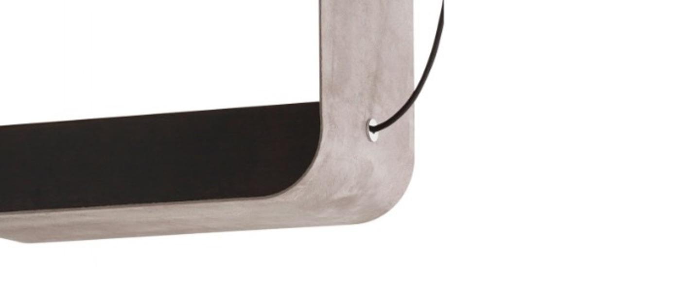 Lustre eau de lumiere 4 grands carres led gris orange chene h66cm designheure normal