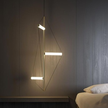 Lustre ed045 or led 3000k 3700lm o34 5cm h138cm edizioni normal