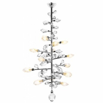Lustre excess 15 lumieres cristal o100cm h160cm saint louis normal