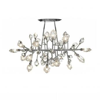 Lustre excess horizontal 20 lumieres cristal o70cm h85cm saint louis normal
