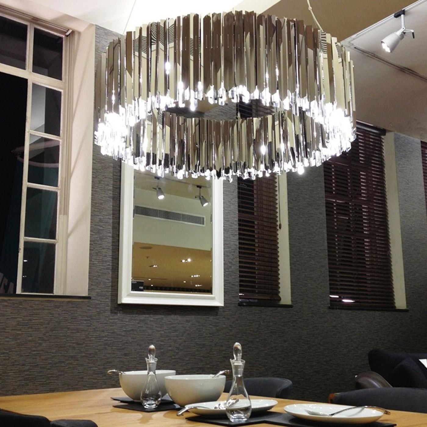 Chandelier facet 100 stainless steel led 100cm h32cm chandelier facet 100 stainless steel led 100cm h32cm innermost nedgis lighting aloadofball Choice Image