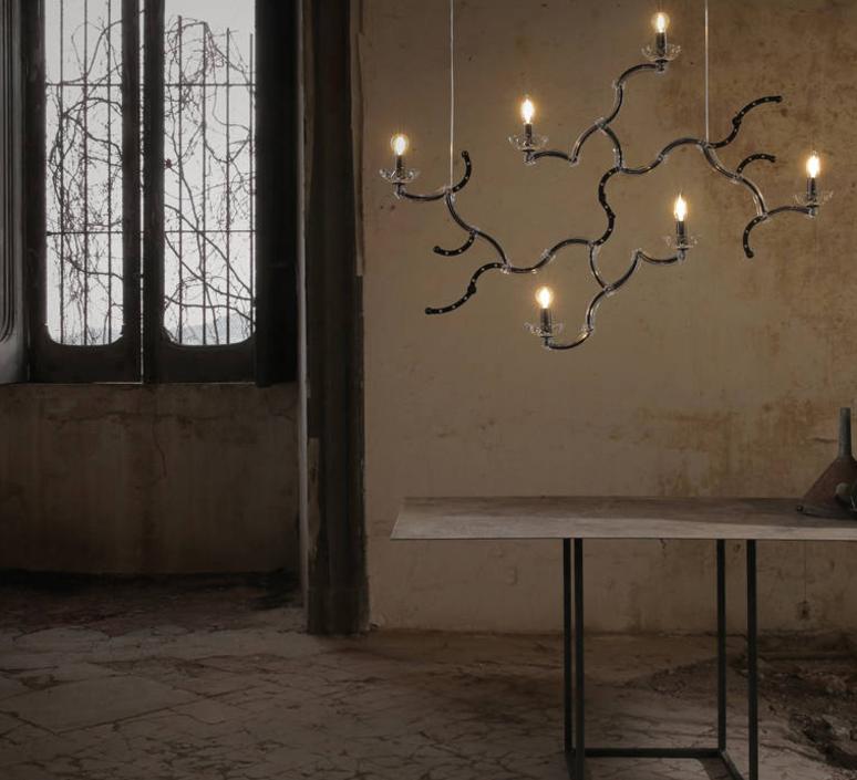 Ghebo luca de bona et dario de meo lustre chandelier  karman ghebo se146 1n int  design signed 37750 product