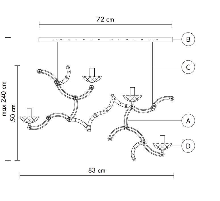 Ghebo luca de bona et dario de meo lustre chandelier  karman ghebo se146 1o int  design signed 37754 product