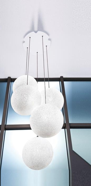 Lustre iceglobe blanc brillant h300cm lumen center italia normal