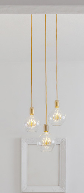 Lustre king edison trio or led o36cm h221cm mineheart normal