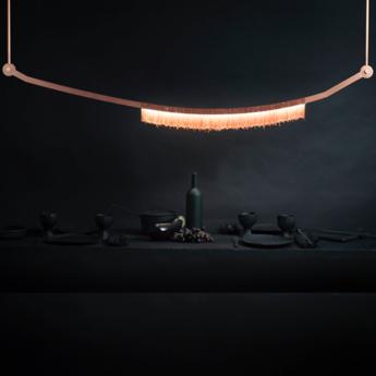 Lustre liane cuivre led l172cm h22 8cm cto lighting normal