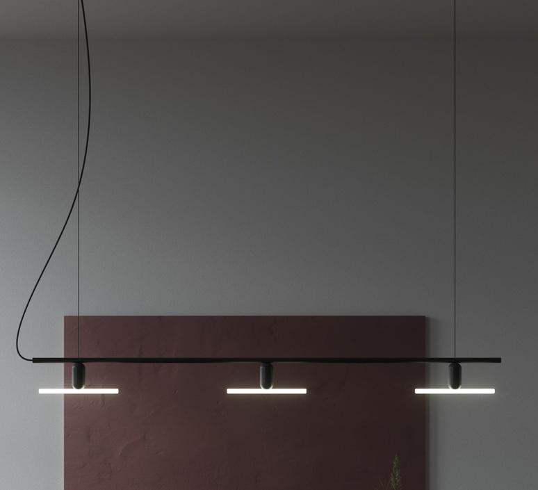 Linear 3  lustre chandelier  beem base linear 1287646  design signed nedgis 83284 product