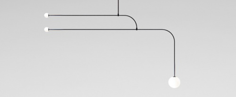 Lustre mobile chandelier 12 noir l172cm h93cm anastassiades studio normal