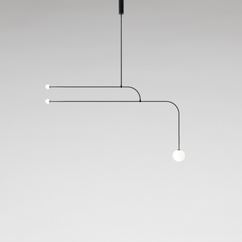 Lustre mobile chandelier 12 noir l172cm h93cm anastassiades studio normal