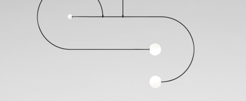 Lustre mobile chandelier 13 noir l192 5cm h128cm anastassiades studio normal