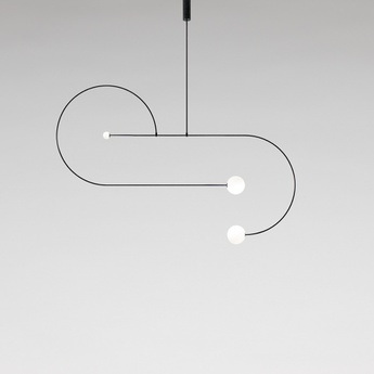 Lustre mobile chandelier 13 noir l192 5cm h128cm anastassiades studio normal