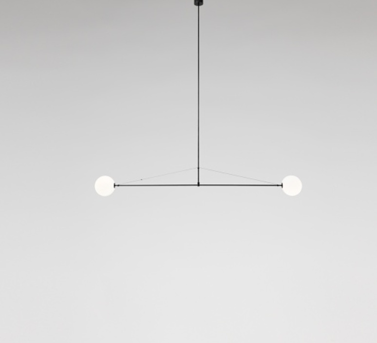 Chandelier mobile chandelier 2 black l180cm h15cm mobile chandelier 2 michael anastassiades lustre chandelier anastassiades ma mc2b design signed 39649 product aloadofball Image collections