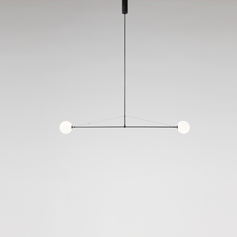 Lustre mobile chandelier 2 noir l180cm h15cm anastassiades studio normal