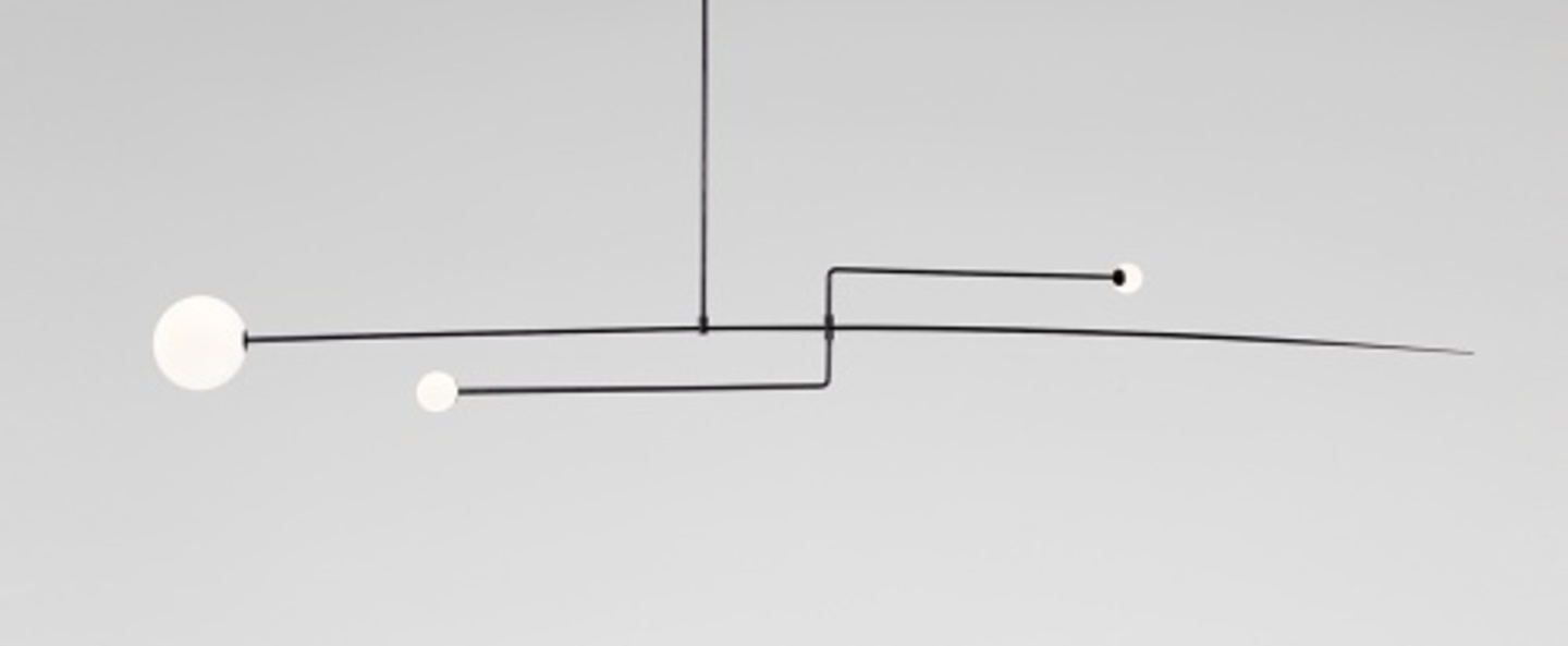 Lustre mobile chandelier 3 noir l230cm h15cm anastassiades studio normal