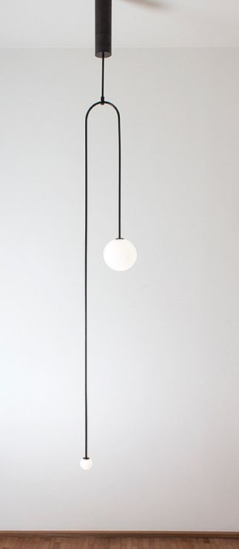 Lustre mobile chandelier 7 noir l25cm h166 6cm anastassiades studio normal