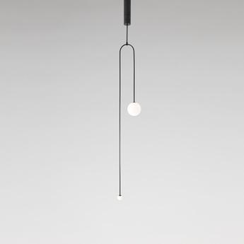Lustre mobile chandelier 7 noir l25cm h166 6cm anastassiades studio normal