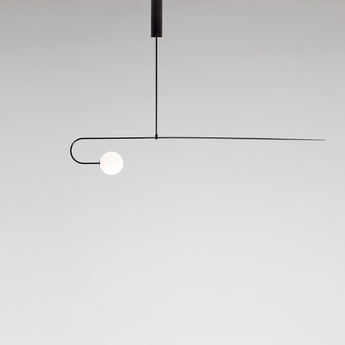 Lustre mobile chandelier 8 noir l163cm h24 8cm anastassiades studio normal