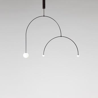 Lustre mobile chandelier 9 noir l145 5cm h110 3cm anastassiades studio normal