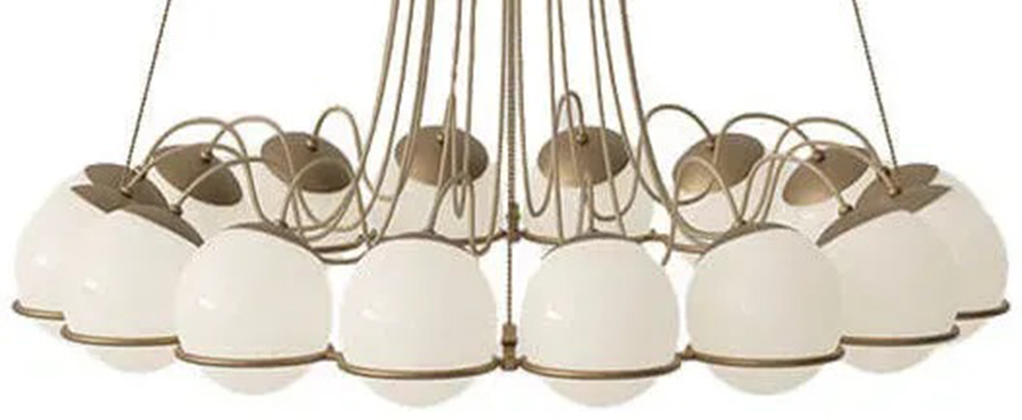 Lustre model 2109 16 14 champagne o95cm h160cm astep normal