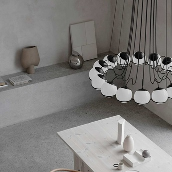 Lustre model 2109 16 14 noir o95cm h160cm astep normal