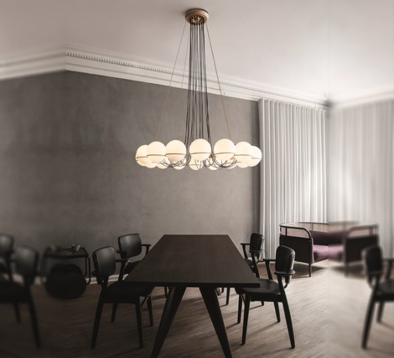 Model 2109 16 20 gino sarfatti lustre chandelier  astep t08 s21 mgd0  design signed nedgis 78885 product
