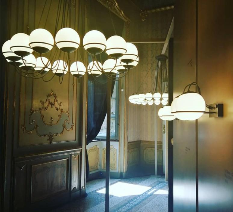 Model 2109 16 20 gino sarfatti lustre chandelier  astep t08 s21 mgd0  design signed nedgis 78887 product