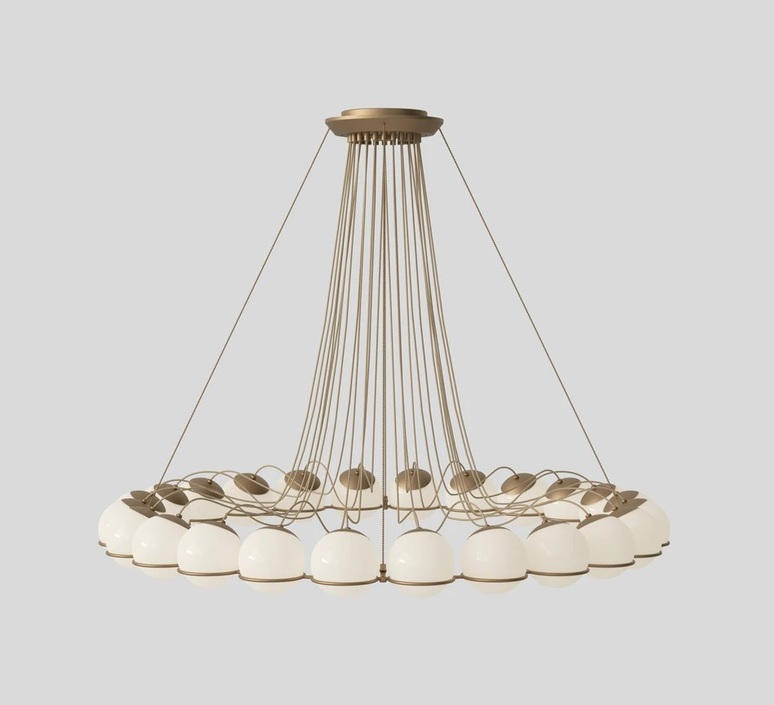 Model 2109 24 14 gino sarfatti lustre chandelier  astep t08 s31 sod0  design signed nedgis 78895 product