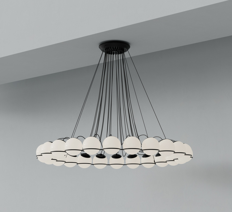 Model 2109 24 14 gino sarfatti lustre chandelier  astep t08 s31 sob0  design signed nedgis 78891 product