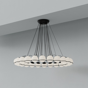 Lustre model 2109 24 14 noir o134cm h160cm astep normal