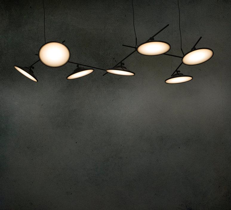 Moons ceiling light nir meiri lustre chandelier  nir meiri moons ceilinglightmattblack  design signed 56728 product