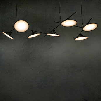 Lustre moons ceiling light noir led l100cm h40cm nir meiri normal