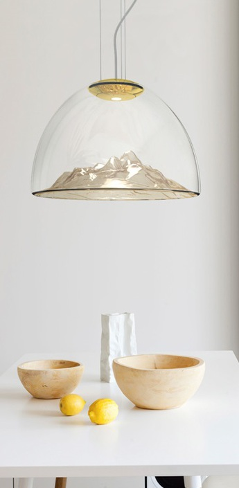 Lustre mountain view cristal ambre or o55cm axo light normal