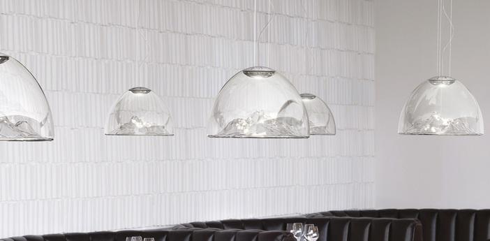 Lustre mountain view cristal chrome o55cm axo light normal