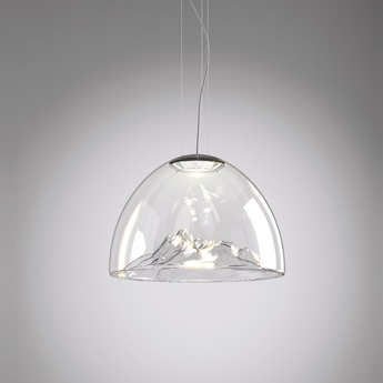 Lustre mountain view cristal chrome o55cm axo light normal