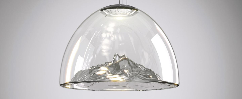 Lustre mountain view cristal gris chrome o55cm axo light normal