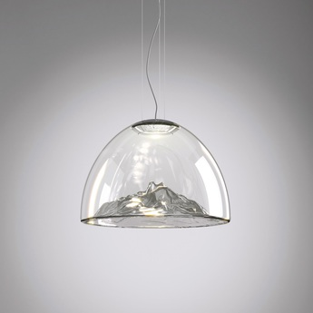 Lustre mountain view cristal gris chrome o55cm axo light normal