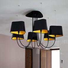Lustre Moyen Nuage Noir Jaune 216 152cm Designheure