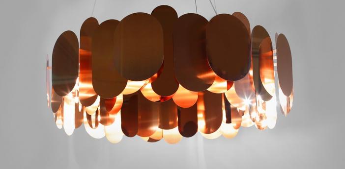 Lustre panel 75 bronze led o75cm h35cm innermost normal