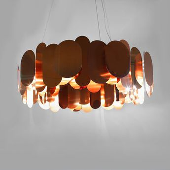 Lustre panel 75 bronze led o75cm h35cm innermost normal